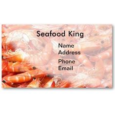 Fresh Shrimps or Prawn on Display Business Cards