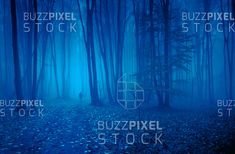 Person walking in the night through forest in the fog. Photography For Sale, Conceptual Photography, Walking, Abstract, Night, Art, Jogging, Summary, Art Background