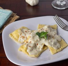 Chicken & Artichoke Ravioli (I apologize for the link to a blog post that uses Comic Sans AND mentions Valentine's Day, but the recipe honestly sounded worth it.)