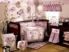 Traditional Butterlies Baby Girl Nursery Themes Ideas