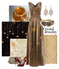 Crystal glam by maria-kuroshchepova on Polyvore featuring Biba, Pour La Victoire, SERGIO FERETTI, Alexis Bittar and crystaljewelry