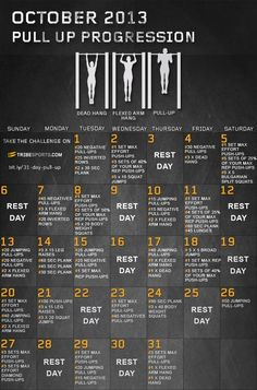 30 Day Pull Up Challenge