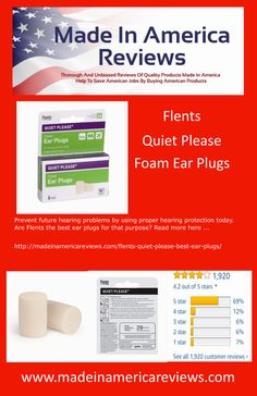 Prevent future hearing problems by using proper hearing protection today. Are Flents the best ear plugs for that purpose? Read more here . Best Ear Plugs, Foam Ear Plugs, Hearing Problems, American Manufacturing, Hearing Protection, By Using, Purpose, Personal Care, Good Things