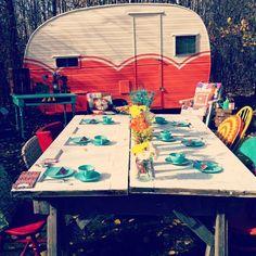 camper and picnic...