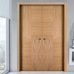 Sanrafael Lisa Flush Double Fire Door - Model K04 Oak Prefinished. #doubleoakdoor #doubledoos #sanrafaeldoors