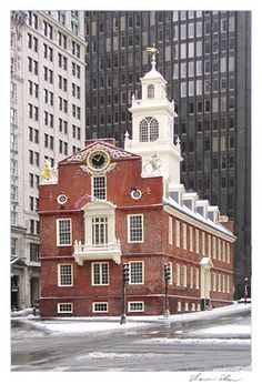 Old State House Boston...don't just look at it's exterior façade, GO INSIDE! Some wonderful exhibits and passionate volunteers here.