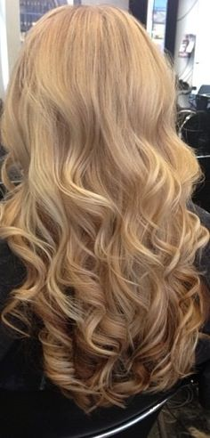 Wavy Blonde Hair-some day my hair could be this long.  Maybe!