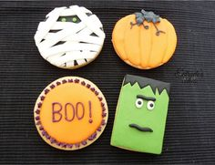 Estrade's cakes: galletas de Halloween, decoradas con glasa y con fondant