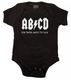 AB/CD Funny Baby Onesie Bodysuit Romper 6 Months in Black