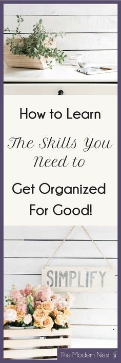 Learn how to get organized with this FREE organization boot camp challenge! This 6-day challenge is designed to help you build the organizing skills you need to get organized for good! Visit https://www.themodernnestblog.com/archives/organization-boot-camp to learn more and join!