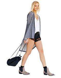 Stylish Ladies Women Casual Long Sleeve Cardigan Thin Irregular Asymmetric Hoodie Coat Outwear