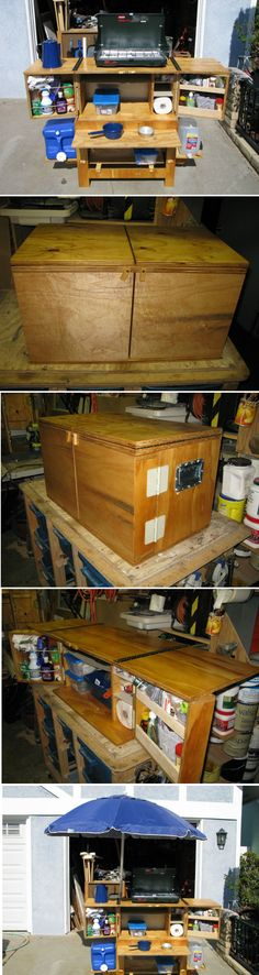 Build Your Own Camp Kitchen Chuck Box