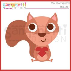 Cute little squirrel holding a heart clipart. Would be great for Valentine's Day projects! Valentines Day Clipart, Planner Stickers, Pikachu, Applique, Paper Crafts, Clip Art, Embroidery, Cute