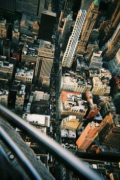 Looking down from the Empire State Building!