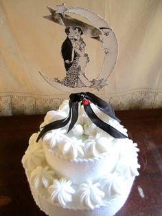 Cute vintage cake topper
