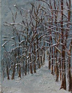Winter Landscape Painting Art by Debra Hurd, painting by artist Debra Hurd