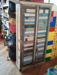 Kast sloophout met deuren