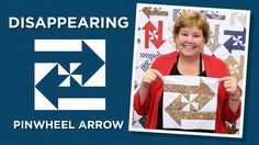 "Jenny demonstrates how to make a Disappearing Pinwheel Arrows Quilt using 10 inch squares of precut fabric (layer cakes). We used High Adventure 10"" Stackers by Design by Dani for Riley Blake."
