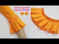 Chudidhar Neck Designs, Blouse Neck Designs, Sleeve Designs, Sleeves Designs For Dresses, Prom Dresses With Sleeves, Shirt Design For Girls, Kurta Neck Design, Stylish Dress Designs, Fashion Sewing