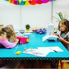 Looking for #family #activity ideas this #weekend? What about #learningtosew together? #crafts #sewing #family #kids