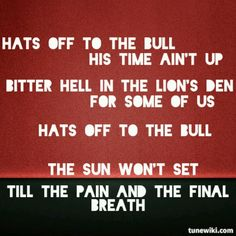HATS OFF TO THE BULL - Chevelle