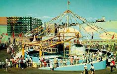 Amusement parks not there anymore -  The Diving Bells plunged passengers beneath the sea to view creatures in the ocean. - 1959