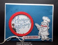 Stampin' Up! Birthday card made with Birthday Delivery stamp set and designed by Demo Pamela Sadler. See more cards at stampinkrose.com #stampinkpinkrose #etsycardstrulyheart