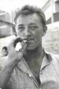 """Robert Mitchum...""""The Enemy Below"""". Love this picture of him."""