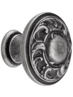 Scroll Design Cabinet Knob With Choice Of Finish | House of Antique Hardware