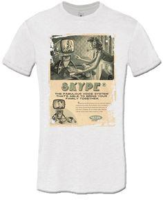 T-shirt Skype Vintage