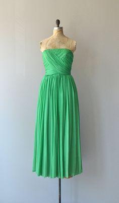 Theia silk chiffon dress vintage1960s dress 60s by DearGolden