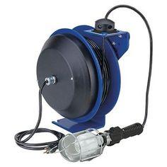 COXREELS PC13-3516-E Electric Cord Reel Incandescent Cage Light