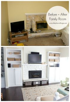 such a family room makeover with before & after photos | somuchbetterwithage.com