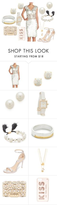 """The Right white"" by hillarymaguire ❤ liked on Polyvore featuring Tadashi Shoji, Kate Spade, Kenneth Jay Lane, Tory Burch, Maya Magal, Rachel Zoe, ZAC Zac Posen, fabulous, fashionset and danceparty"