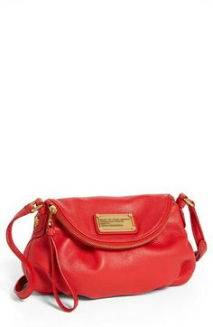 Marc by Marc Jacobs crossbody bag in apple red. Love the color.