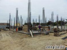 2014-11-12-準備蓋1F, 板模進場