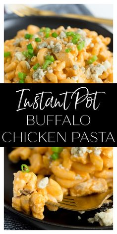 Instant Pot Buffalo Chicken Pasta is a super easy and fun way to enjoy the flavors of buffalo chicken! Buffalo Chicken Grilled Cheese, Buffalo Chicken Pasta, Buffalo Chicken Sandwiches, Chicken Pizza, Spicy Recipes, Turkey Recipes, Dinner Options, Dinner Ideas, Complete Recipe