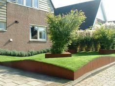 Afbeeldingsresultaat voor cortenstaal tuin