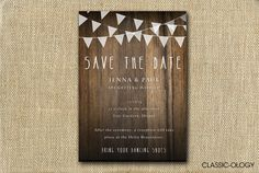Save The Date Rustic Wedding Invitation - Printable. $15.00, via Etsy.