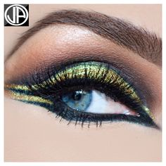 Arabic Makeup Brown Gold Smokey Eyes