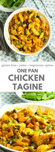 Perfect for busy weeknights but also good enough to serve to guests at the weekend, my One Pan Chicken Tagine is fantastically simple to make, chock full of goodness and, best of all, needs only one pan to make it in. Not only that but it's absolutely packed full of flavour. #onepandinners #onepanmeal #dinnertonight #onepandinner #chickentagine #easychickentagine #sweetpotatoes #chickentaginerecipe #healthychickentagine #lowcarbchickentagine #paleochickentagine #onceuponafoodblog