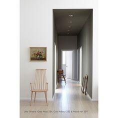Peinture Little Greene - Grey Moss, Cool Arbour & Wood Ash #paint #littlegreene #deco http://www.papierspeintsdirect.com/peintures.html