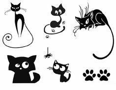 Варианты мультяшных кошек