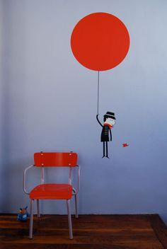 Sticker Monsieur Ballon : Blanca Gomez pour Poisson Bulle.