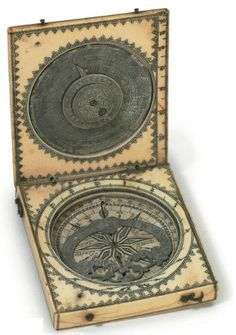 Scrimshaw sundial, 19th Century, France (Source: Christie's via OMG That Artifact tumblr).
