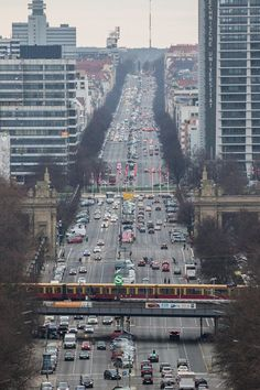 Looking west from atop the Victory Column, Berlin. (Photo by Marco Struebig)