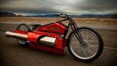 twin pulsejet engines | based on 1929 Harley Davidson Board Track Racer
