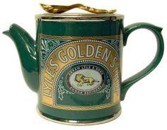 The Teapottery Medium Ceramic Tate and Lyle Syrup Tin Teapot, Green Teapot Cookies, Teapots Unique, Teapots And Cups, Fun Cup, Tea Art, Ceramic Teapots, How To Make Tea, Chocolate Pots, Vintage Tea