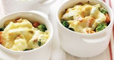 Every one will love their own individual side dish of creamy, cheesy vegetables.