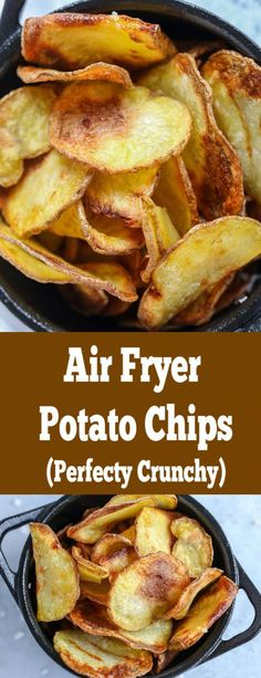 Air Fryer Chips, Air Fryer Potato Chips, Air Fryer Baked Potato, Air Frier Recipes, Air Fryer Oven Recipes, Air Fryer Dinner Recipes, Bette, Air Fried Food, Chips Recipe